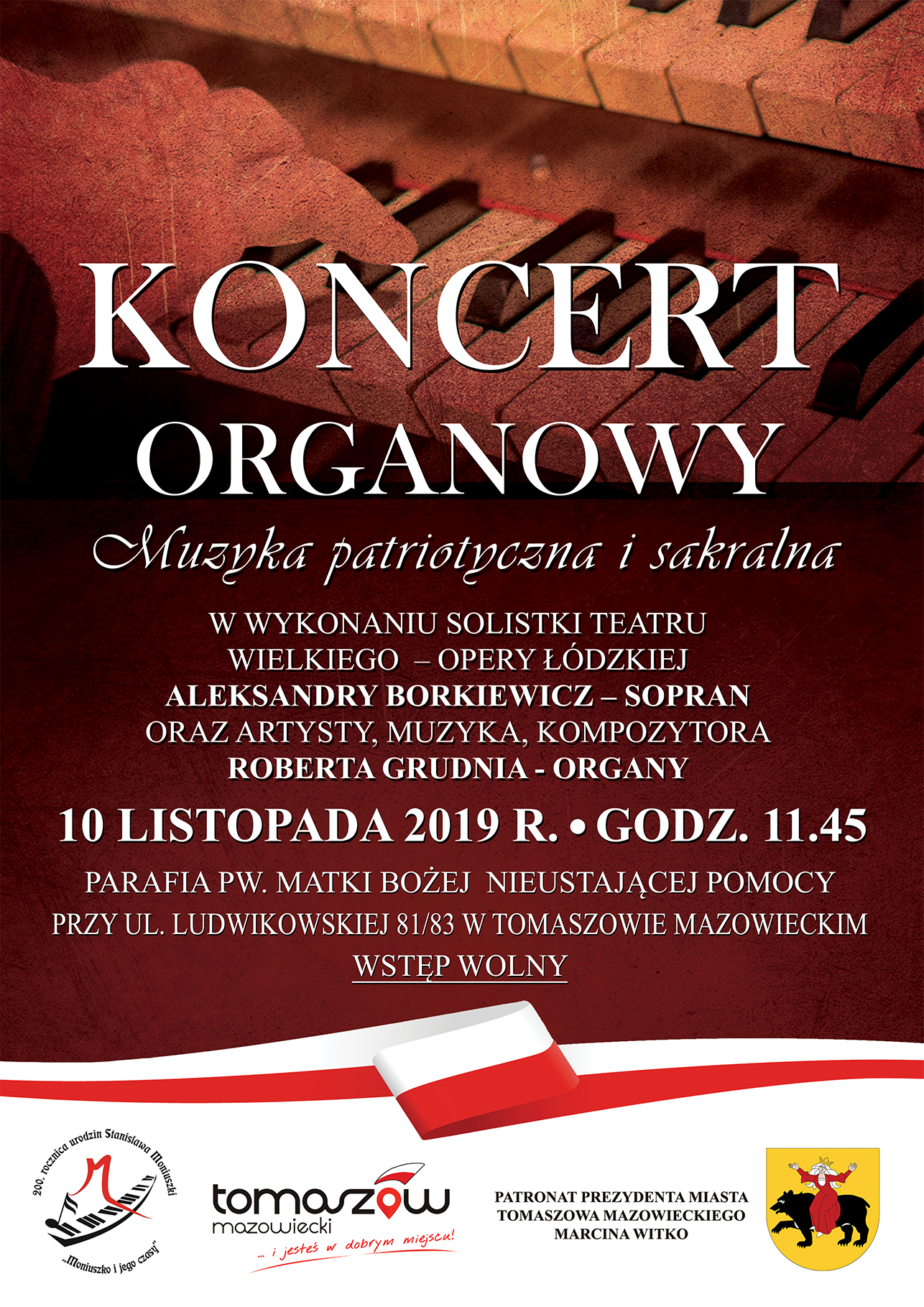 koncert organowy ludwików