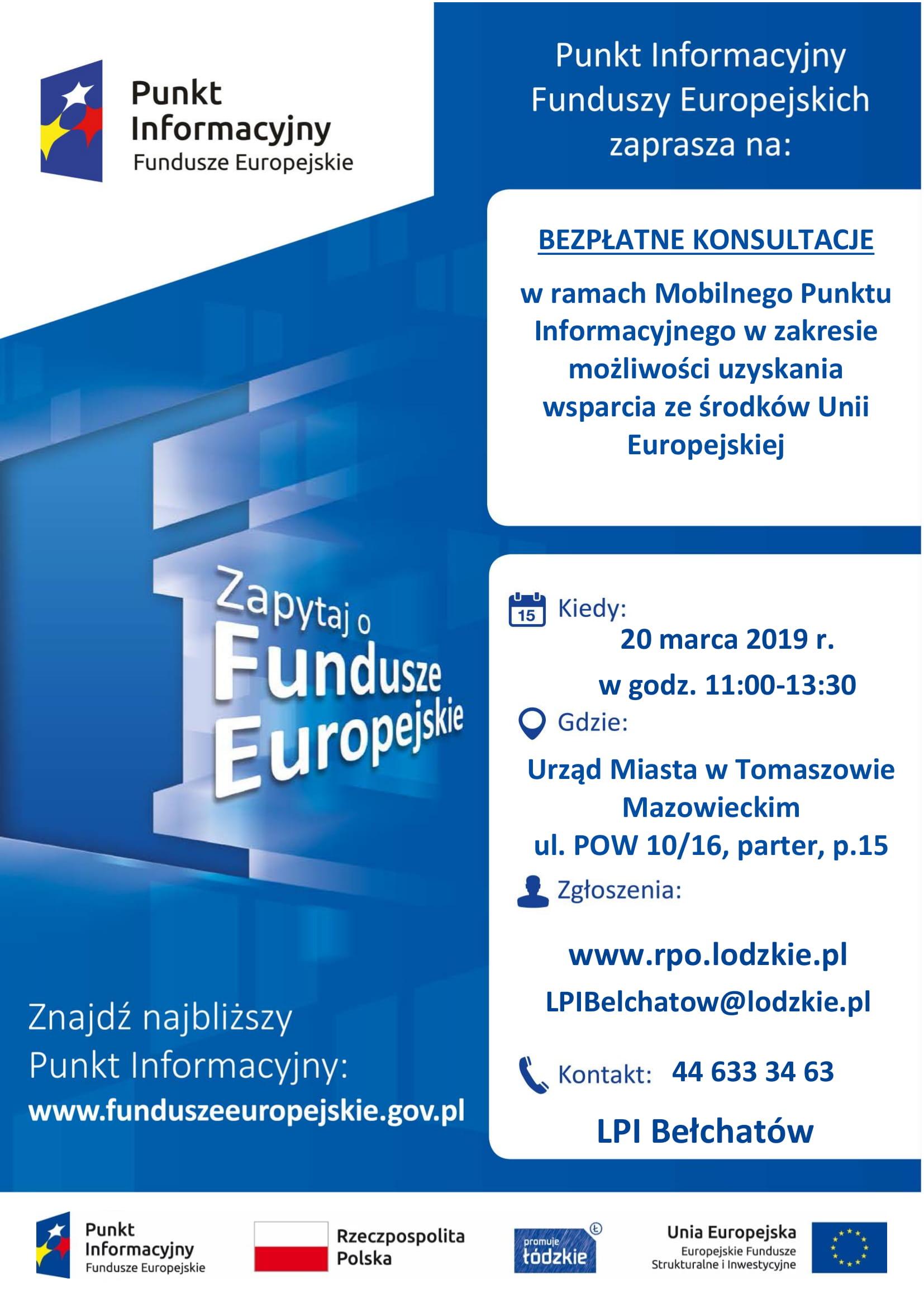 fundusze europejskie, punkt informacyjny