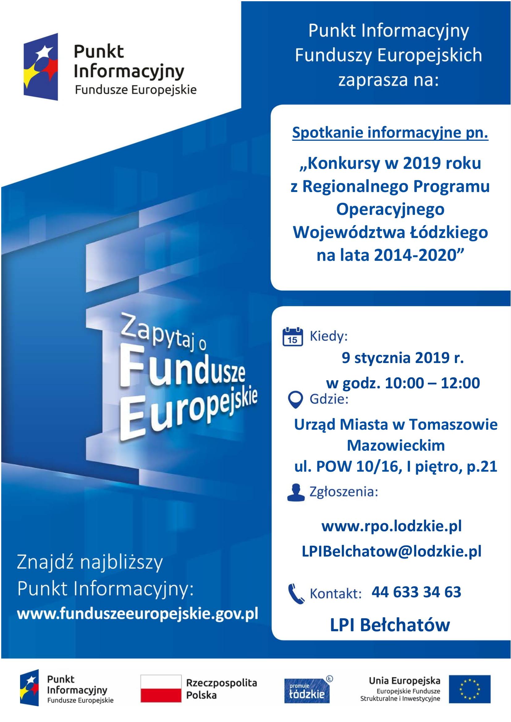 spotkanie informacyjne  fundusze europejskie