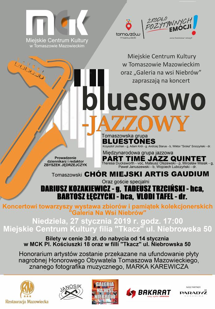 Zaproszenie na koncert bluesowo-jazzowy
