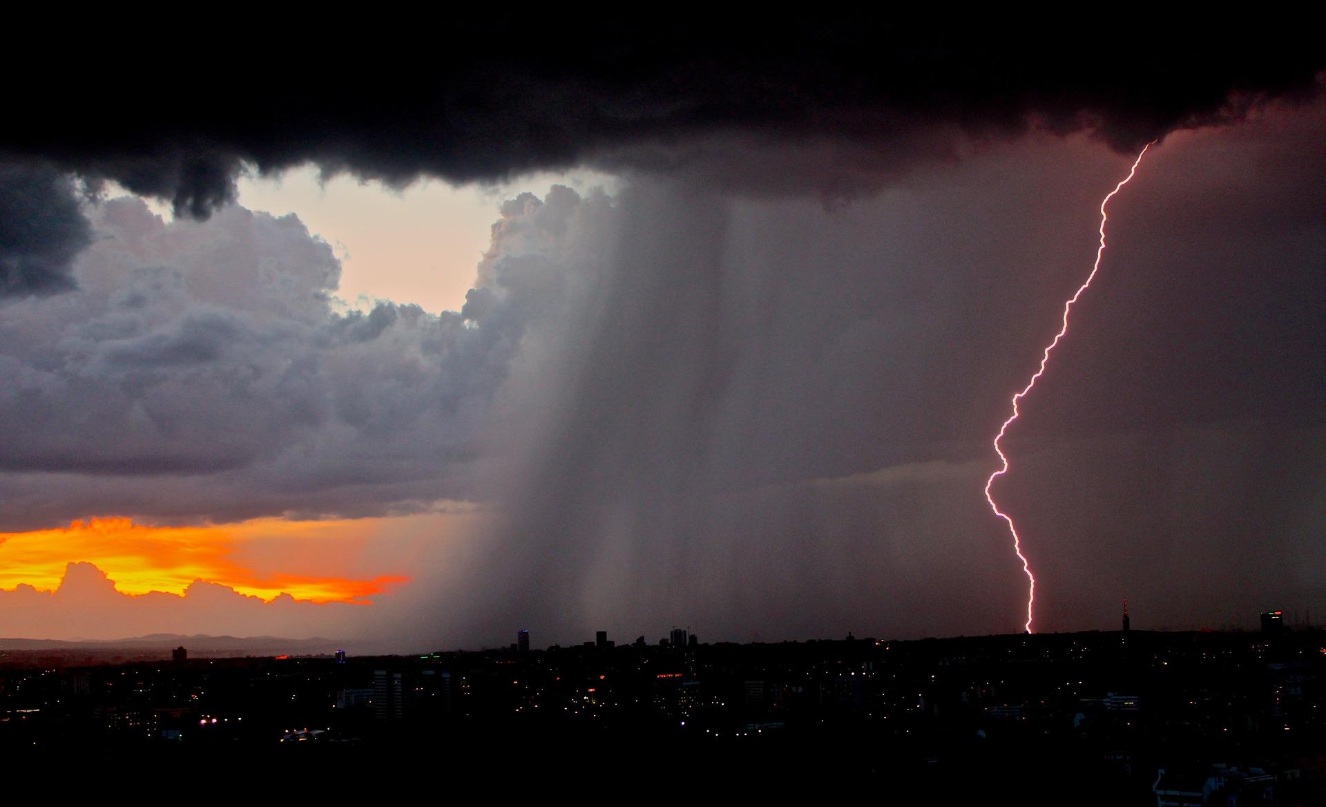 grad, deszcz, burza, upał