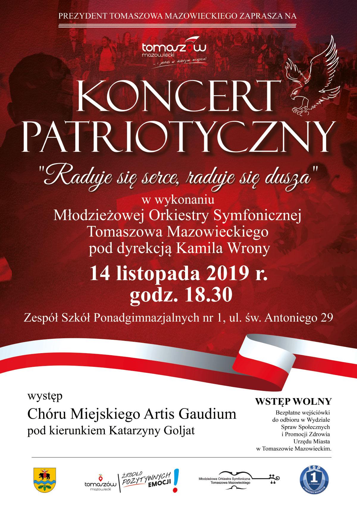 koncert patriotyczny plakat