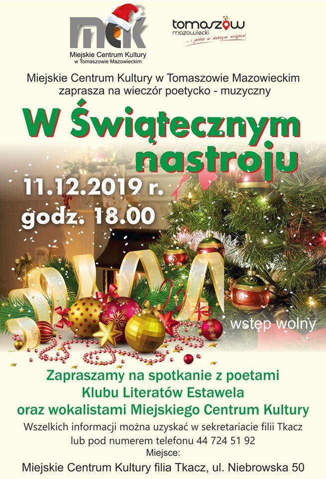 w świątecznym nastroju plakat 2019