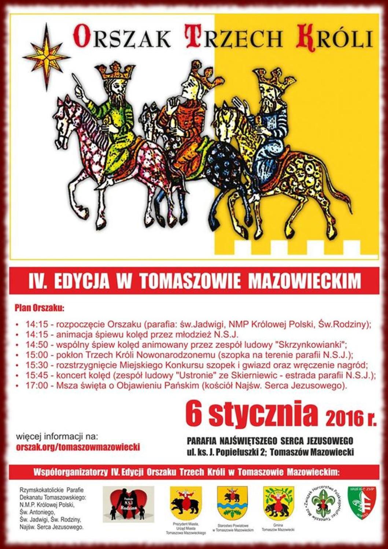 Plakat dotyczący orszaku trzech króli