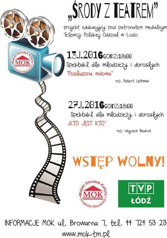 Plakat akcji Środy z teatrem