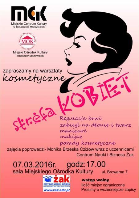 Plakat warsztatów kosmetycznych