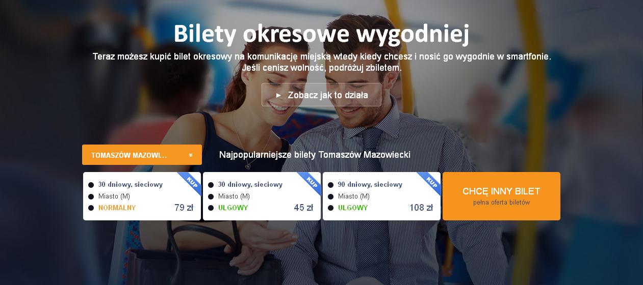 Screen ze strony www.zbiletem.pl