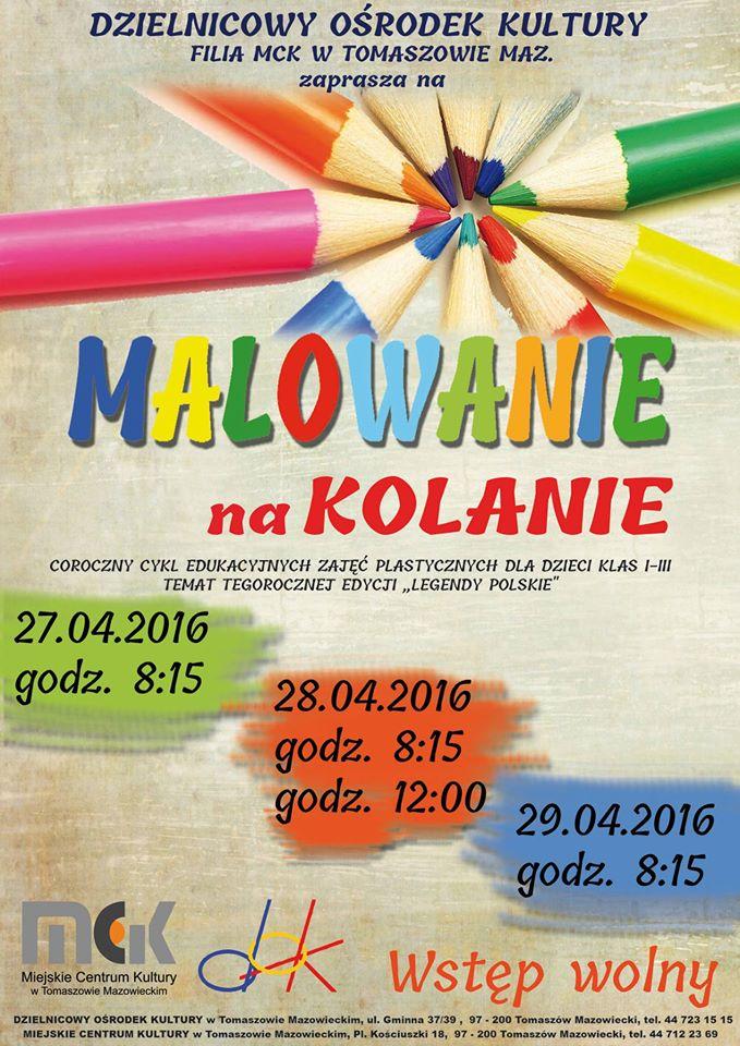 Plakat z informacjami o zajęciach