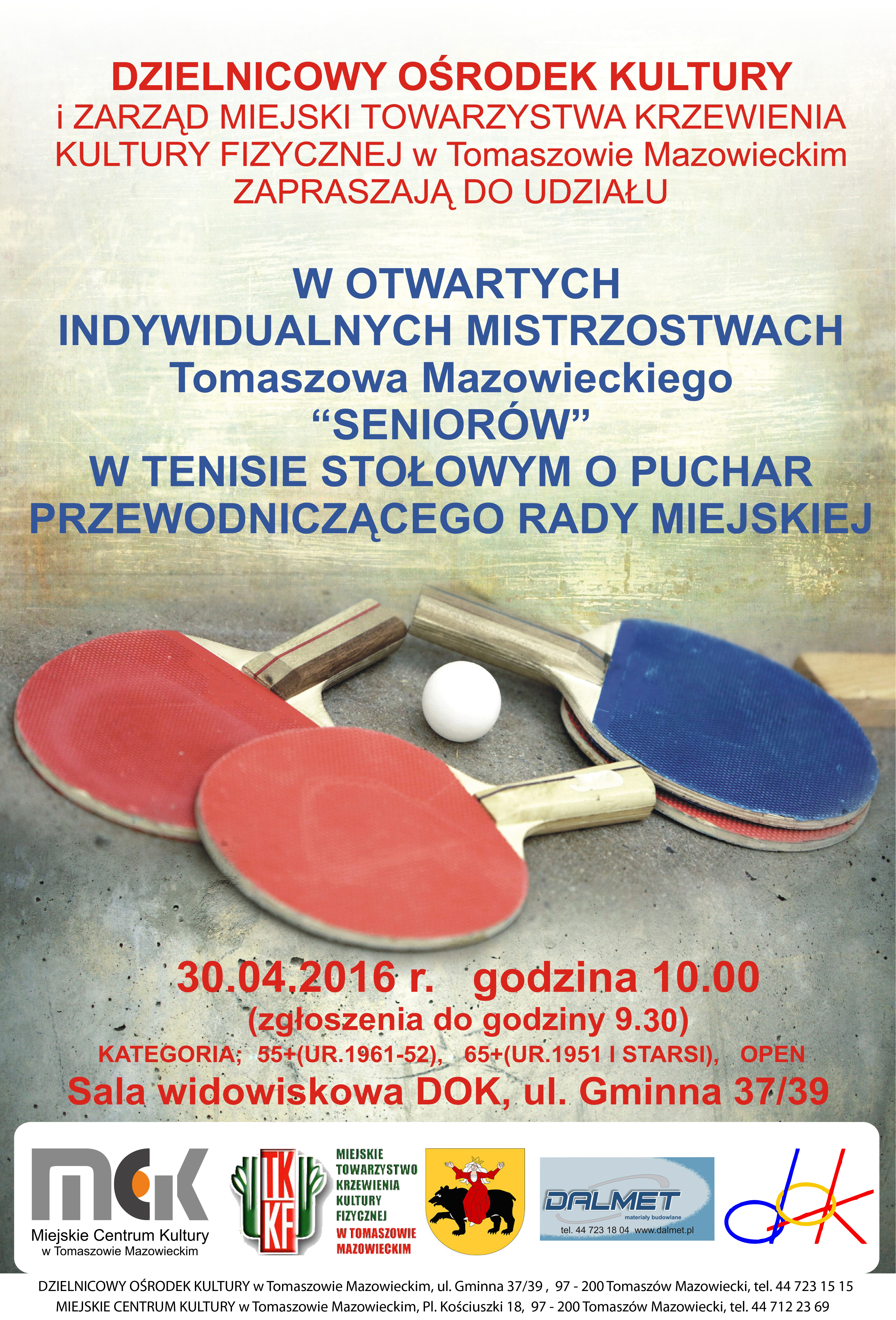 Plakat zawodów