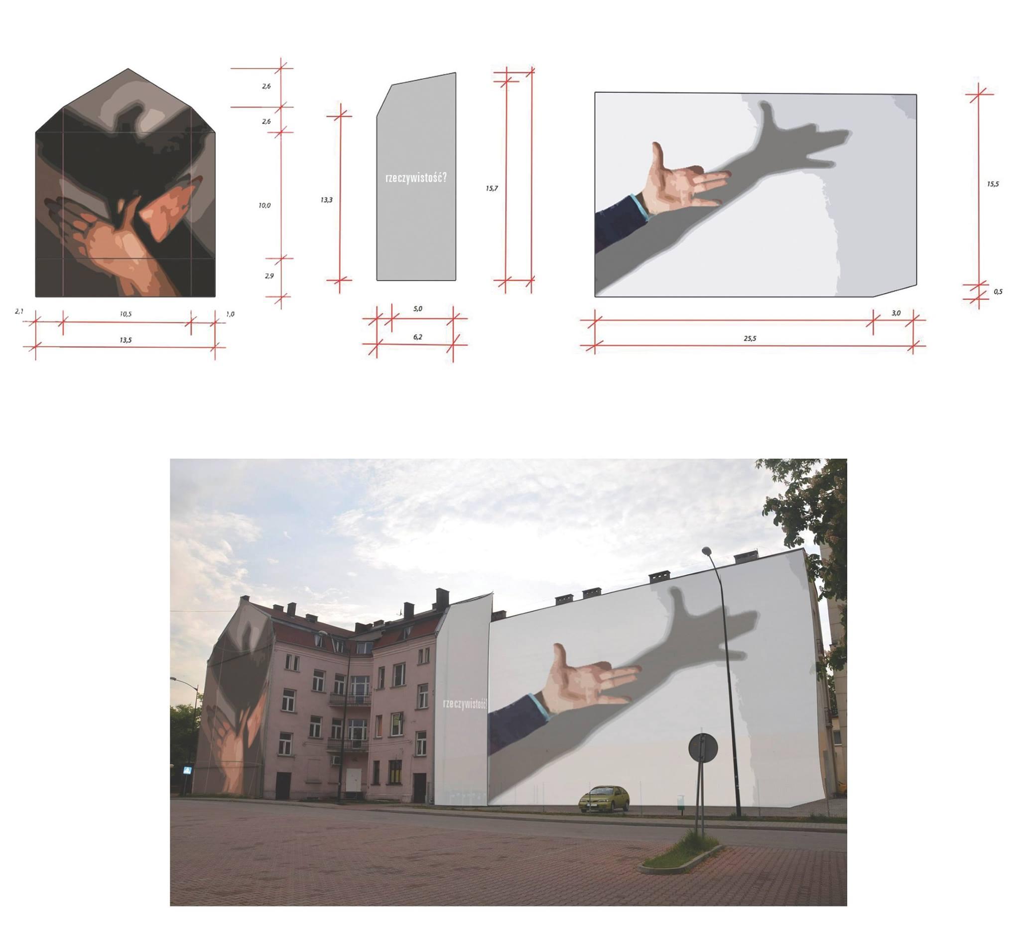 Projekt muralu nr 6, wykonany przez Irenę Zieniewicz (Łódź)