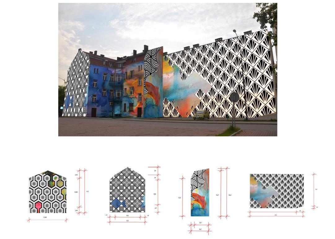 Projekt muralu nr 15, wykonany przez Agatę Zboromirską (Łódź)