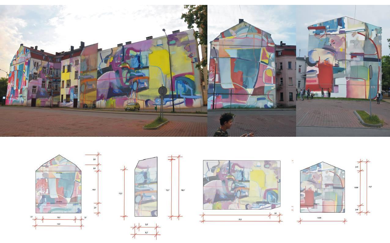 Projekt muralu nr 7, wykonany przez Joannę Cisek (Łódź)