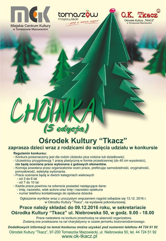 Plakat z informacjami o konkursie