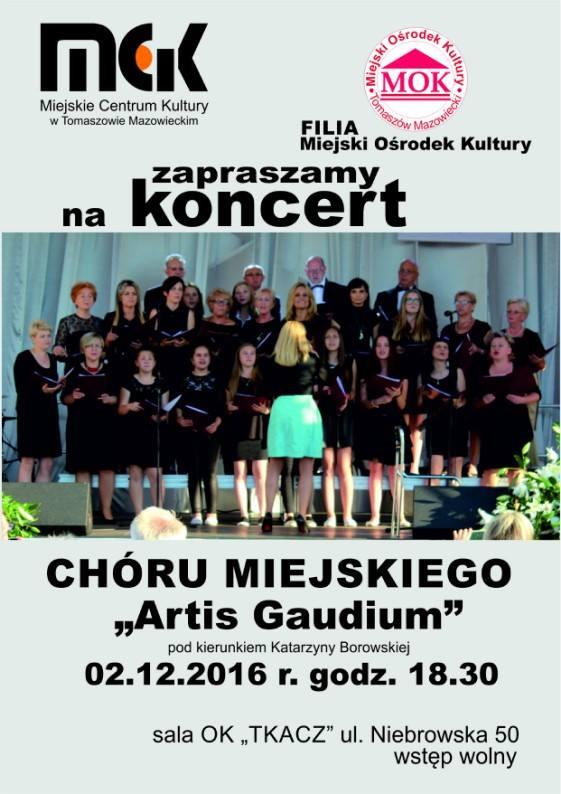 Plakat z informacjami o koncercie