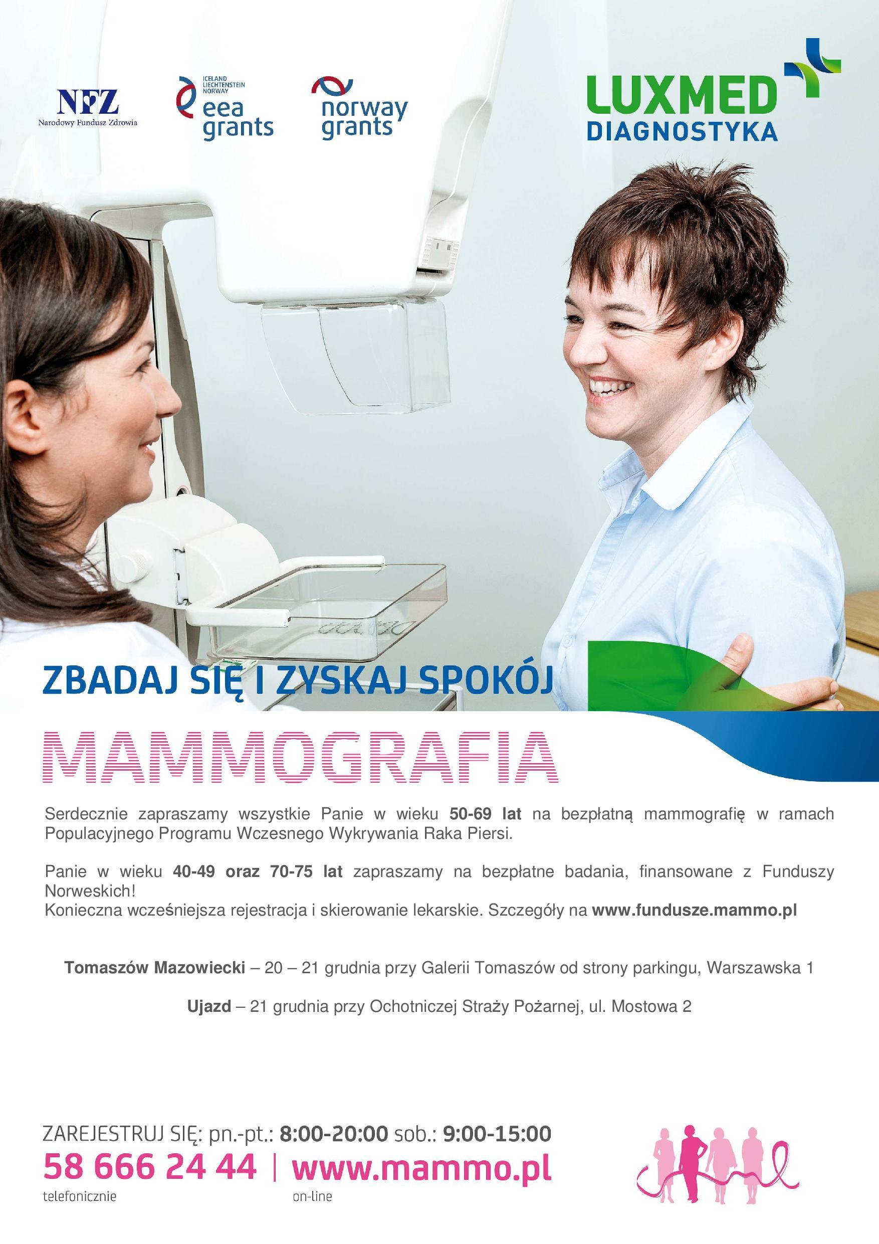 Plakat z informacjami o akcji