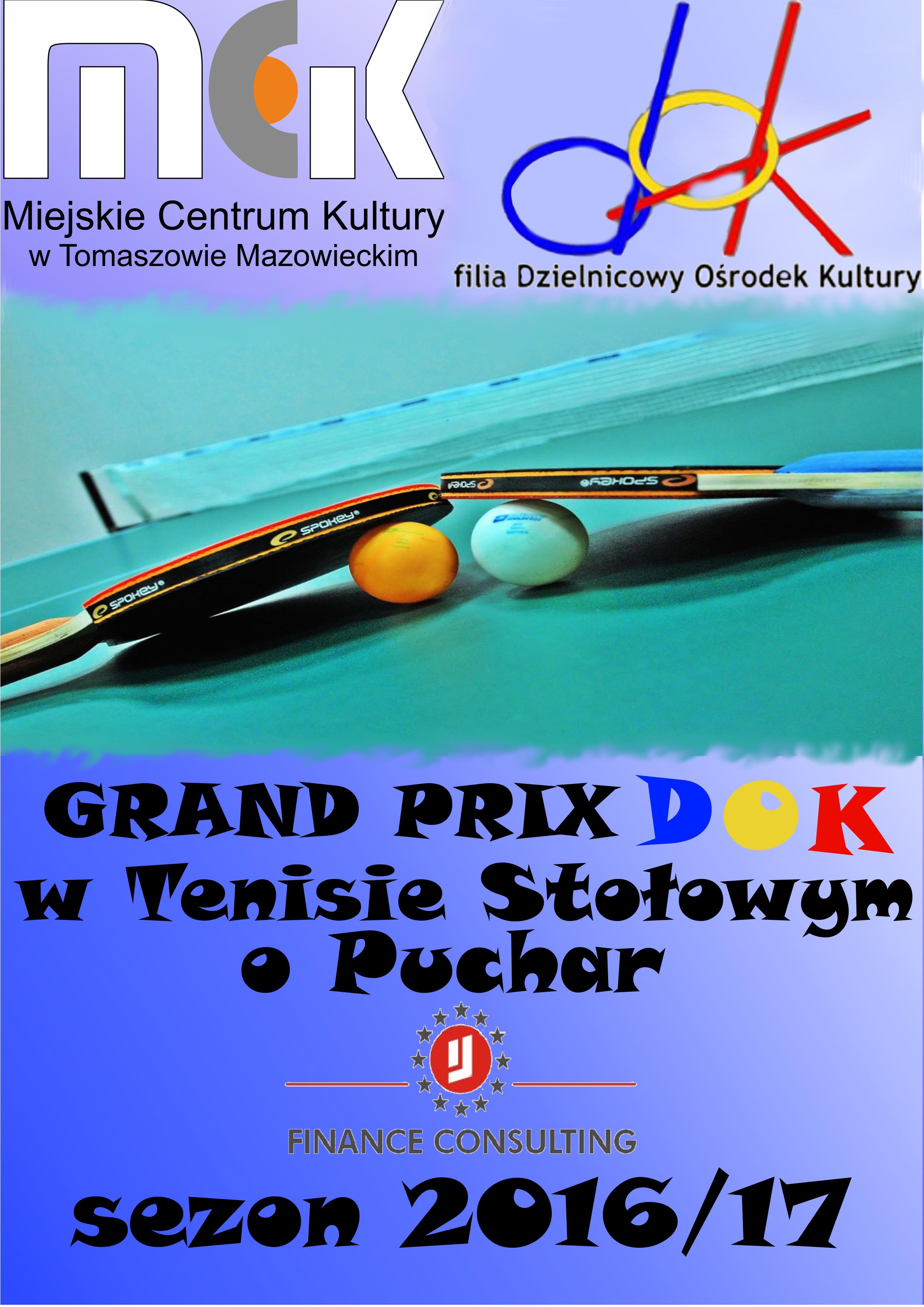 Plakat z informacjami o zawodach