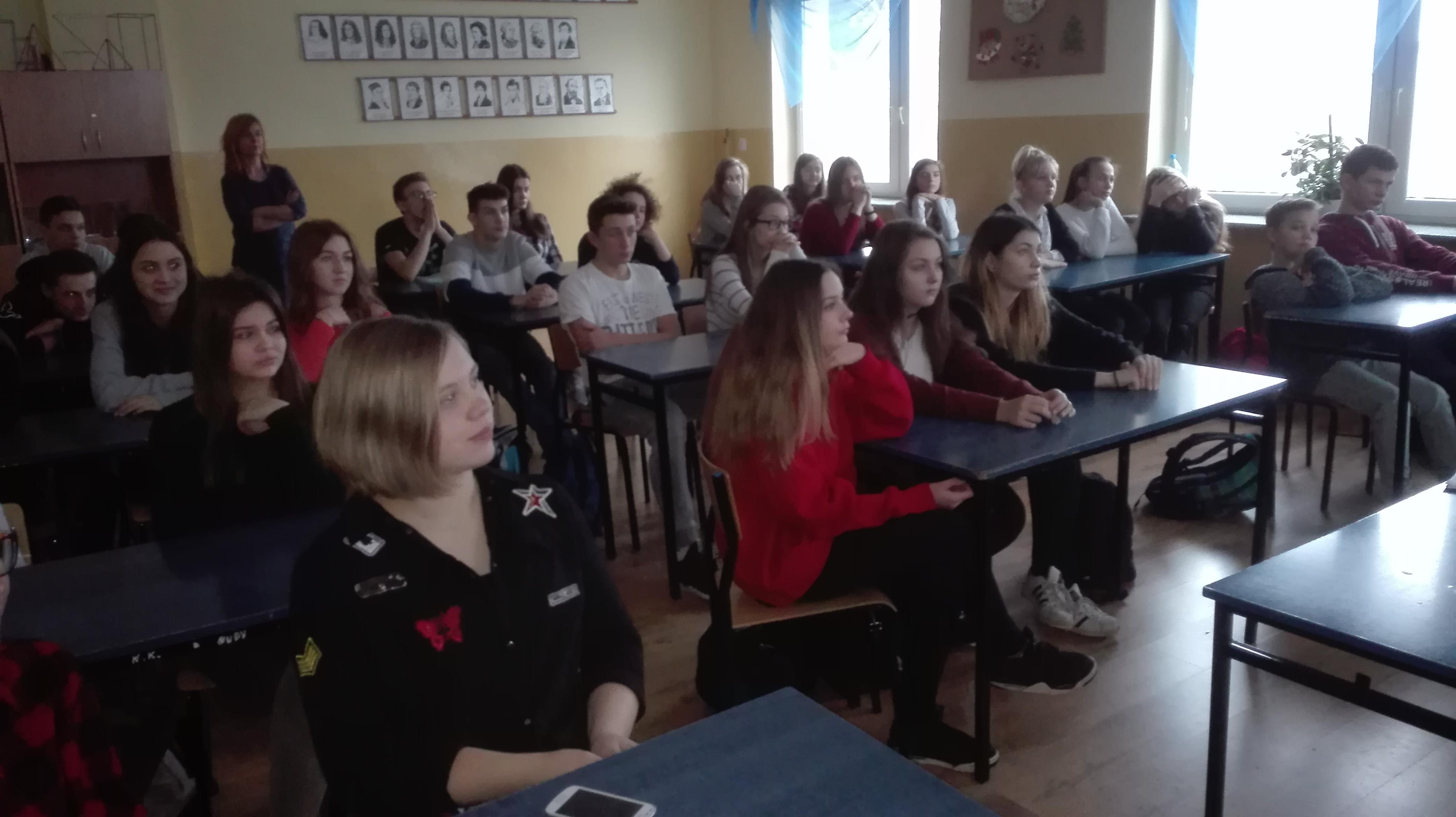 Uczniowie w trakcie lekcji