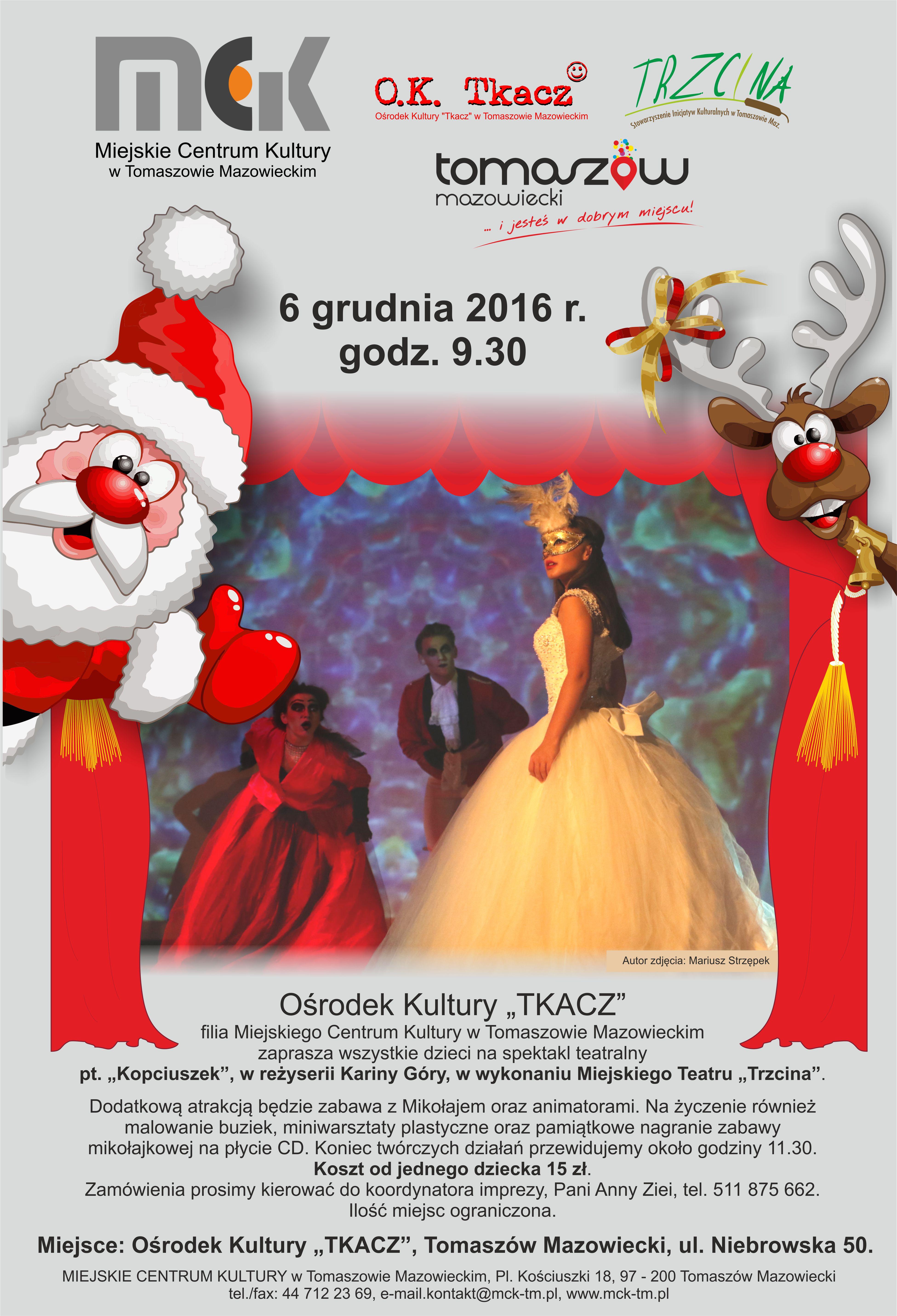 Plakat z informacjami o imprezie