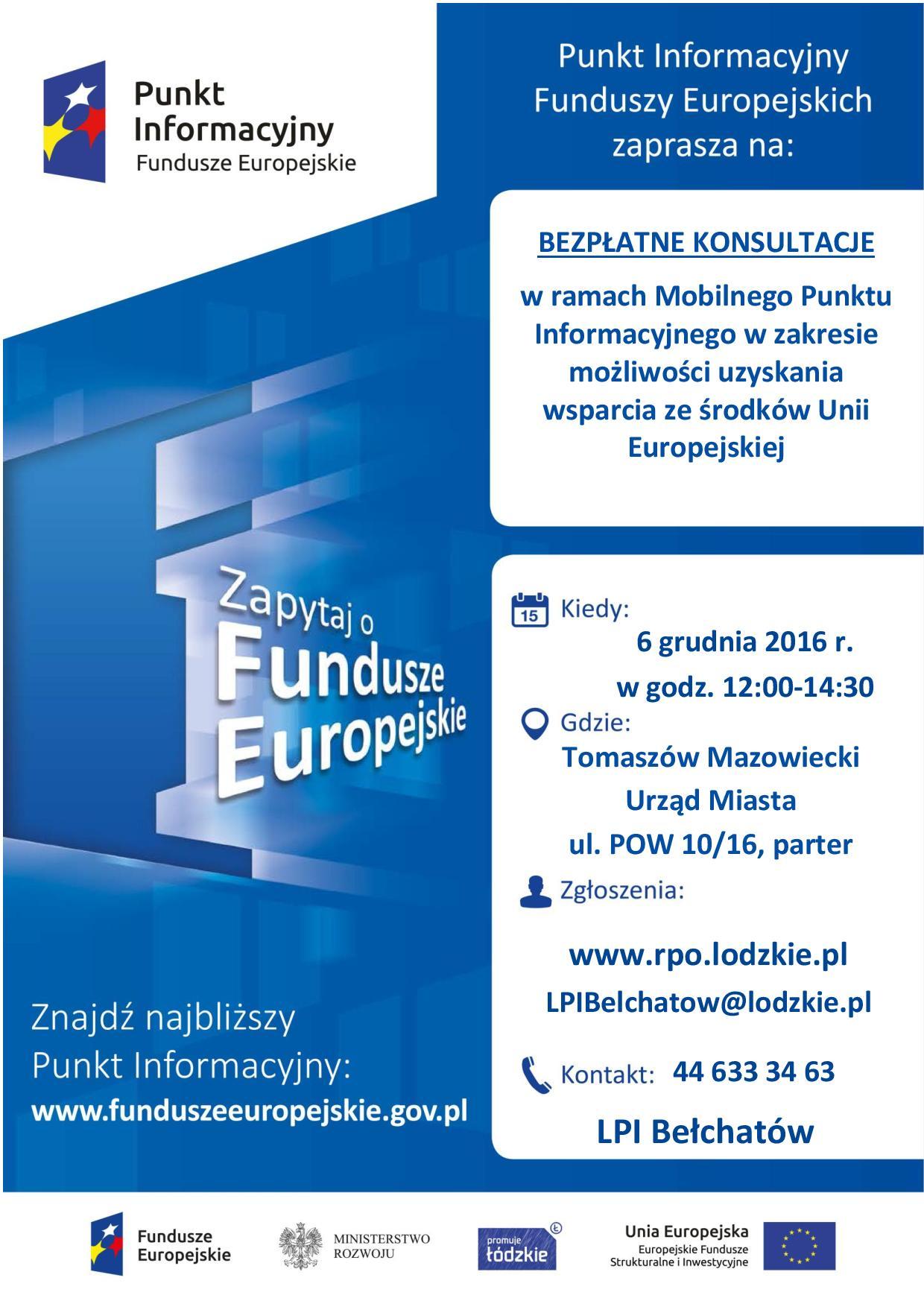 Plakat z informacjami o konsultacjach