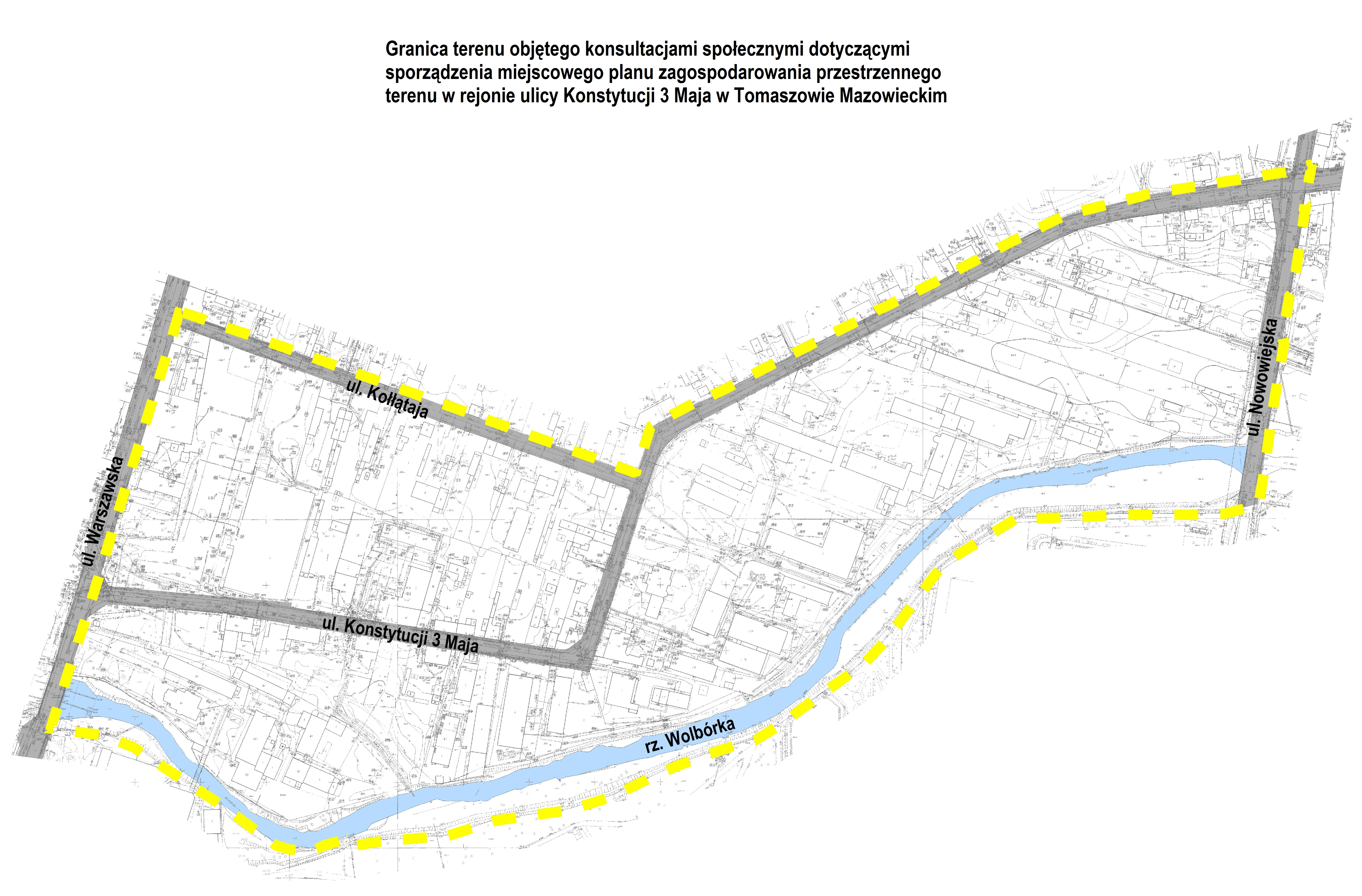 Mapa terenu objętego konsultacjami