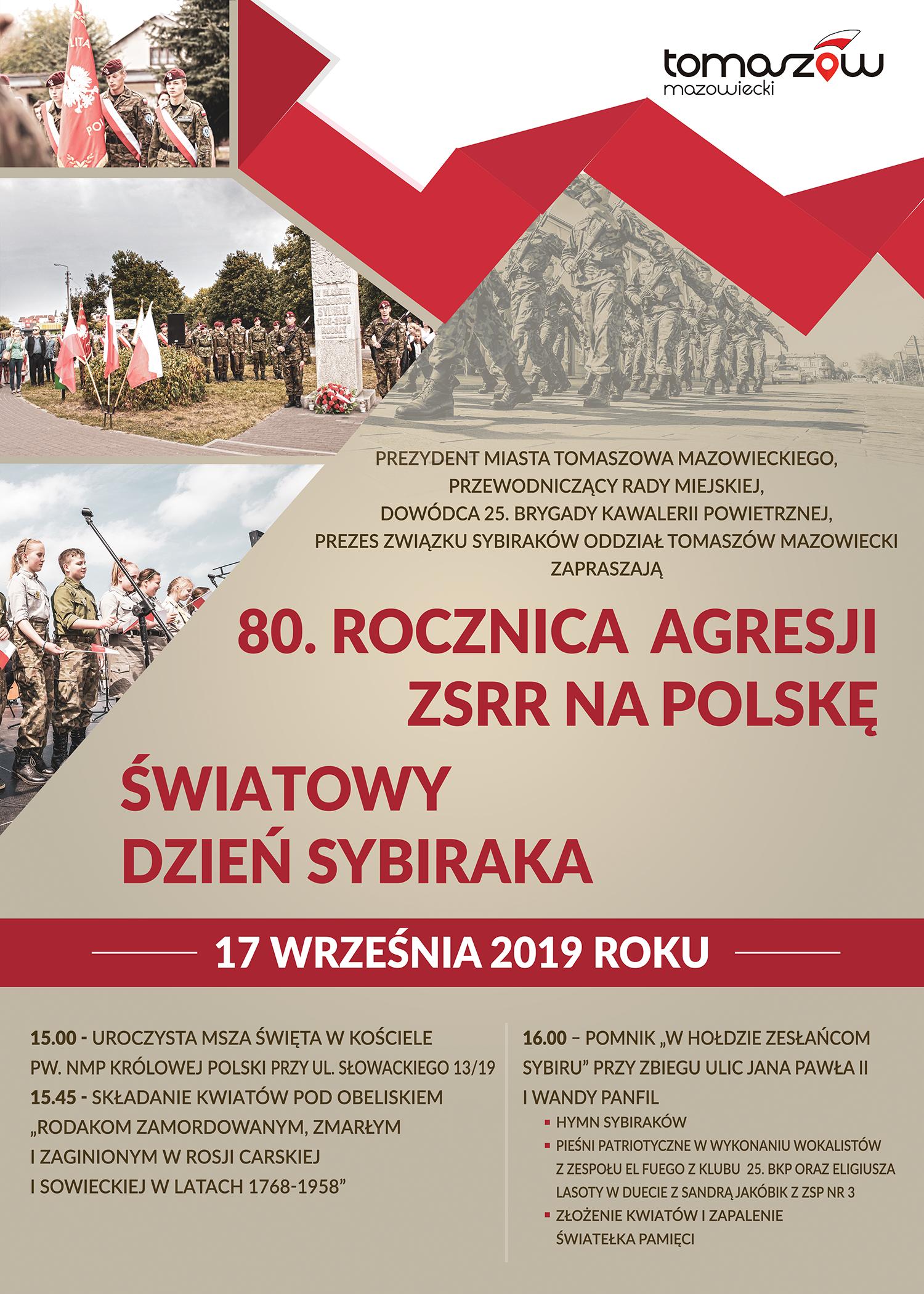 plakat uroczystości patriotycznych wrzesien 2019
