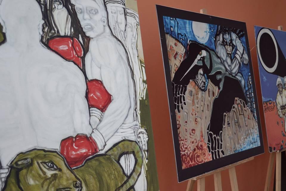 Zdjęcia z wystawy Fiszabacha w O.K. Tkacz