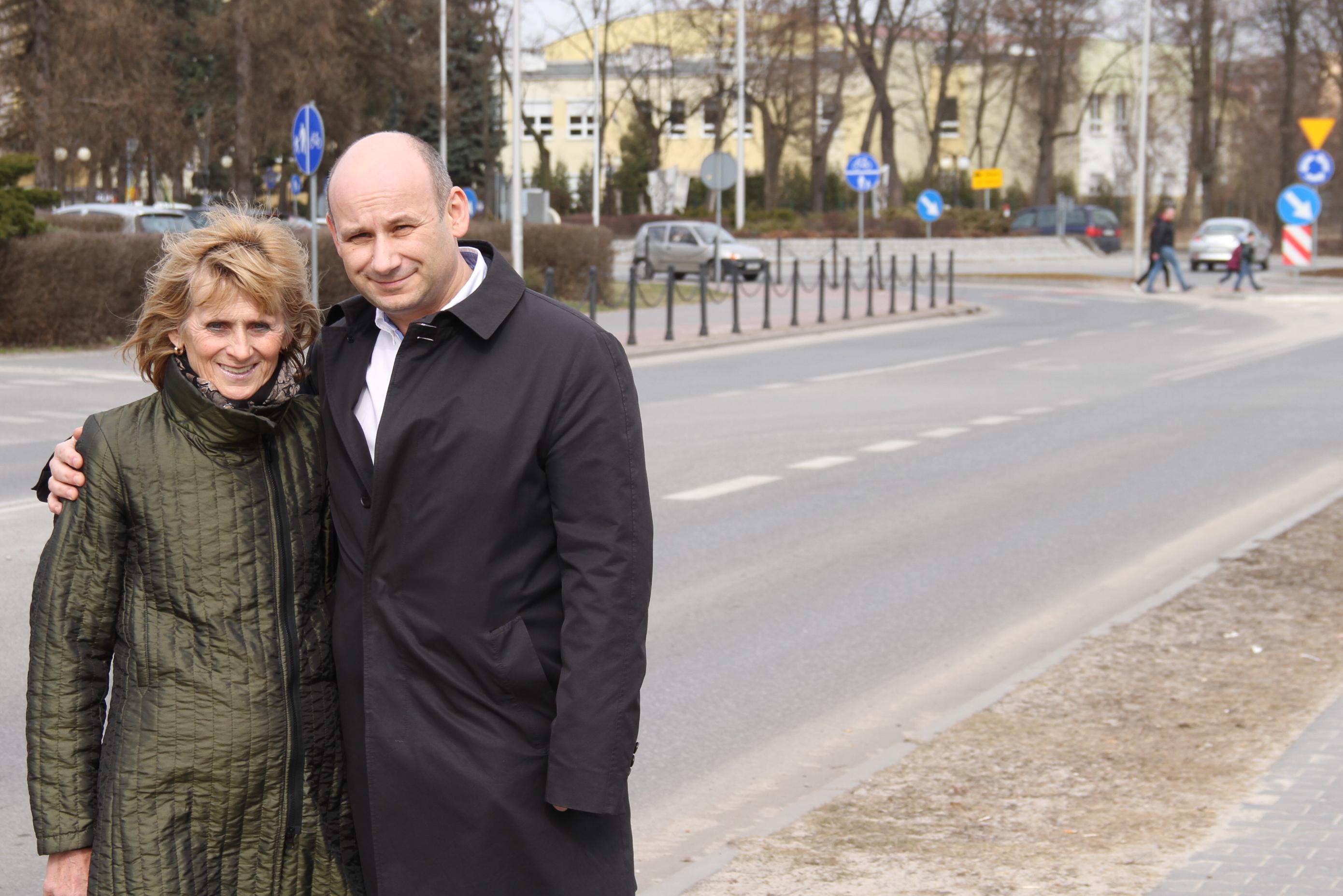 Wanda Panil i prezydent Marcin Witko