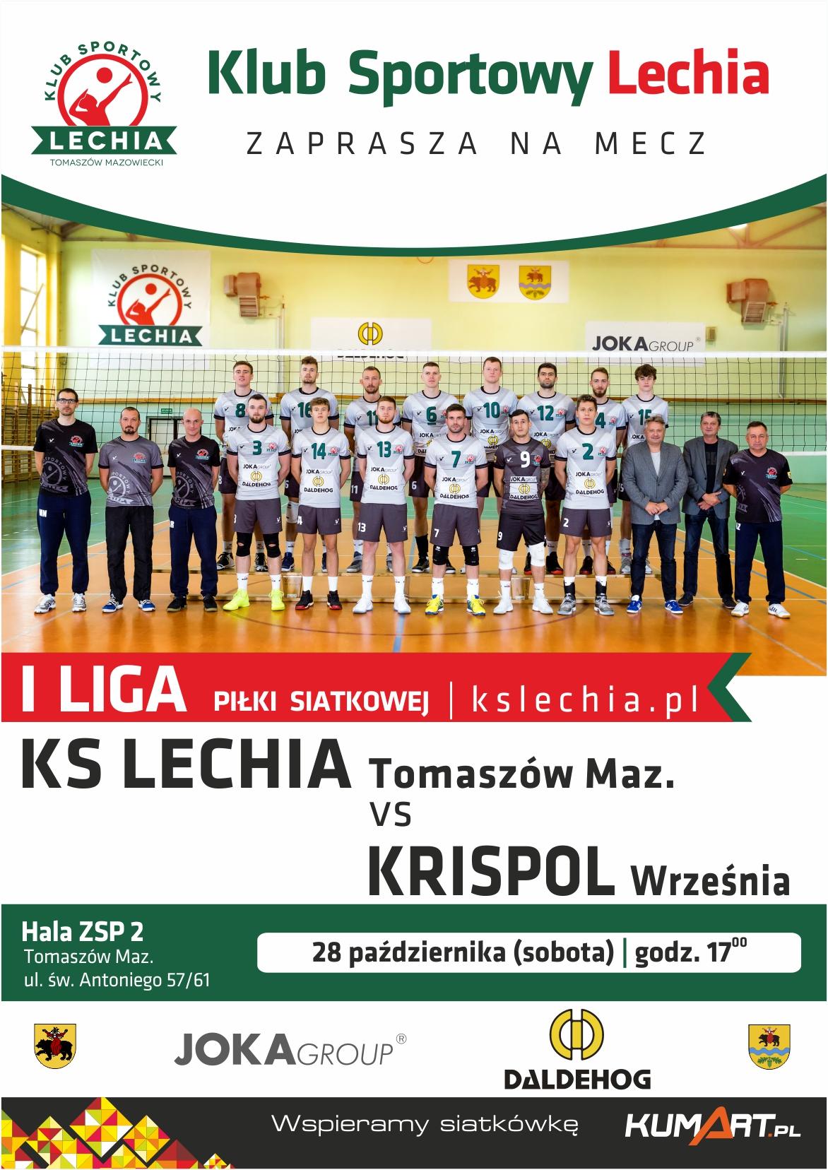 Plakat promujący mecz
