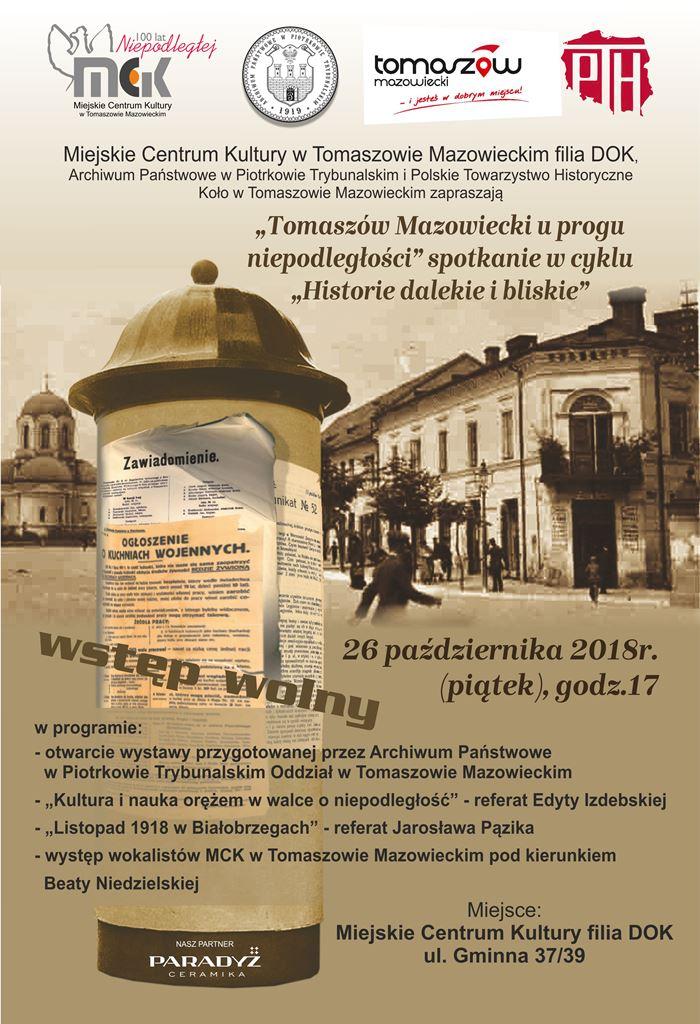 Plakat - historie bliskie i dalekie - 23-10