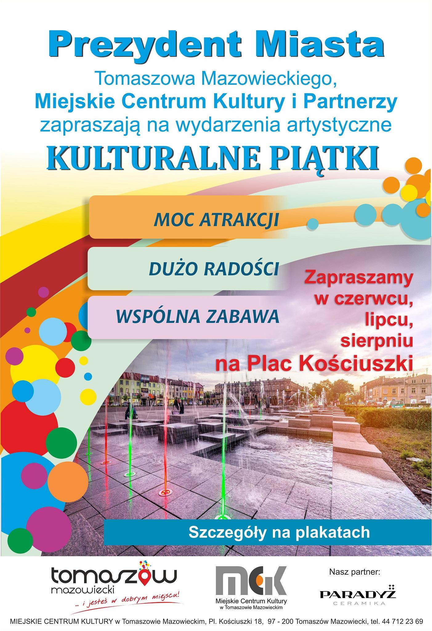 Plakat kulturalnych piatków