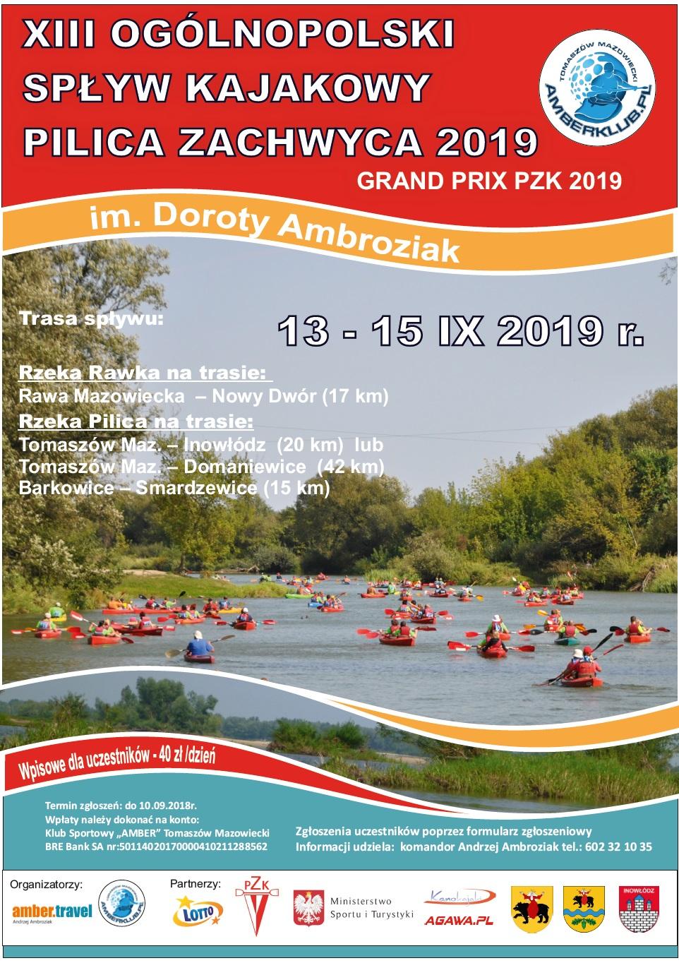 Plakat imprezy Pilica zachwyca wrzesien 2019