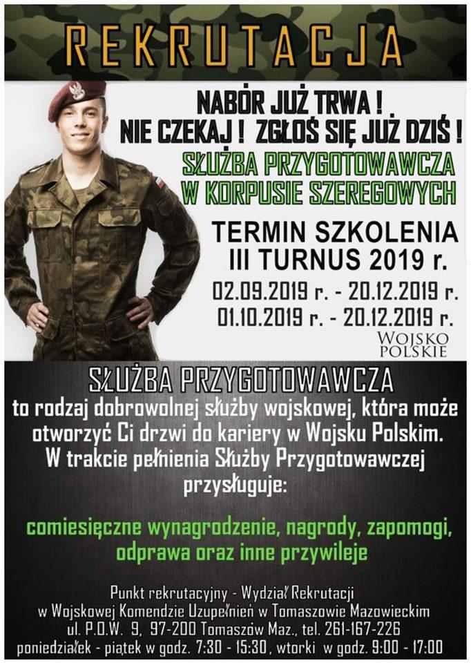 plakat dot. rekrutacji do słuzby przygotowawczej