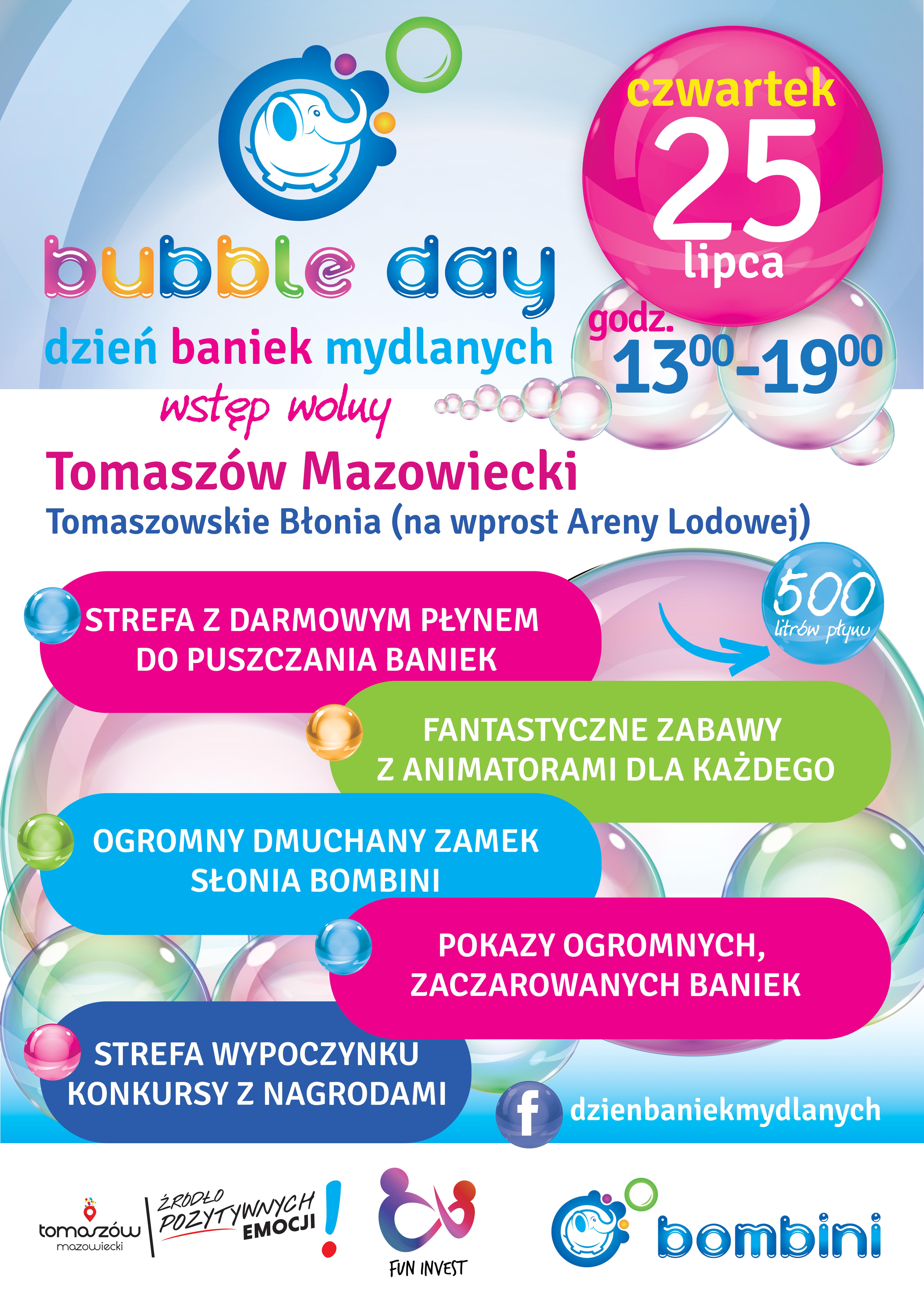 Plakt wydrzenia bubble day