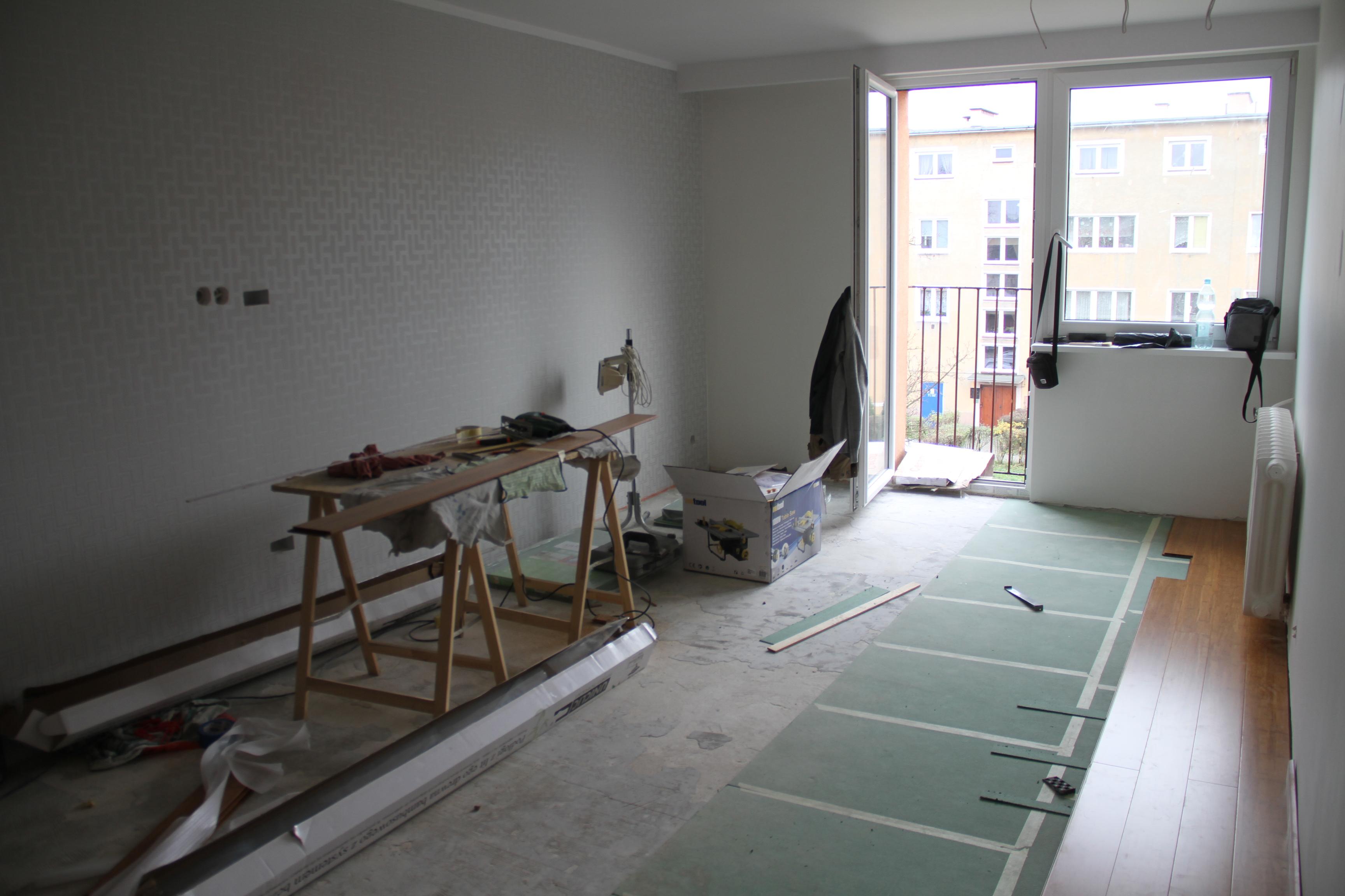 zdjęcie mieszkania podczas remontu