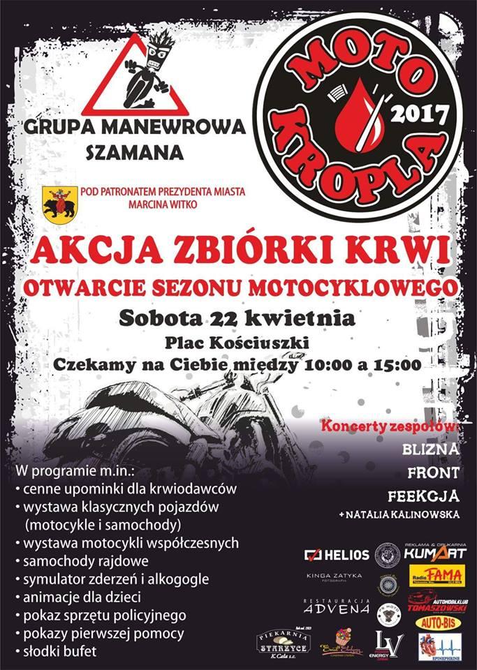 Plakat promujący akcję motokropla