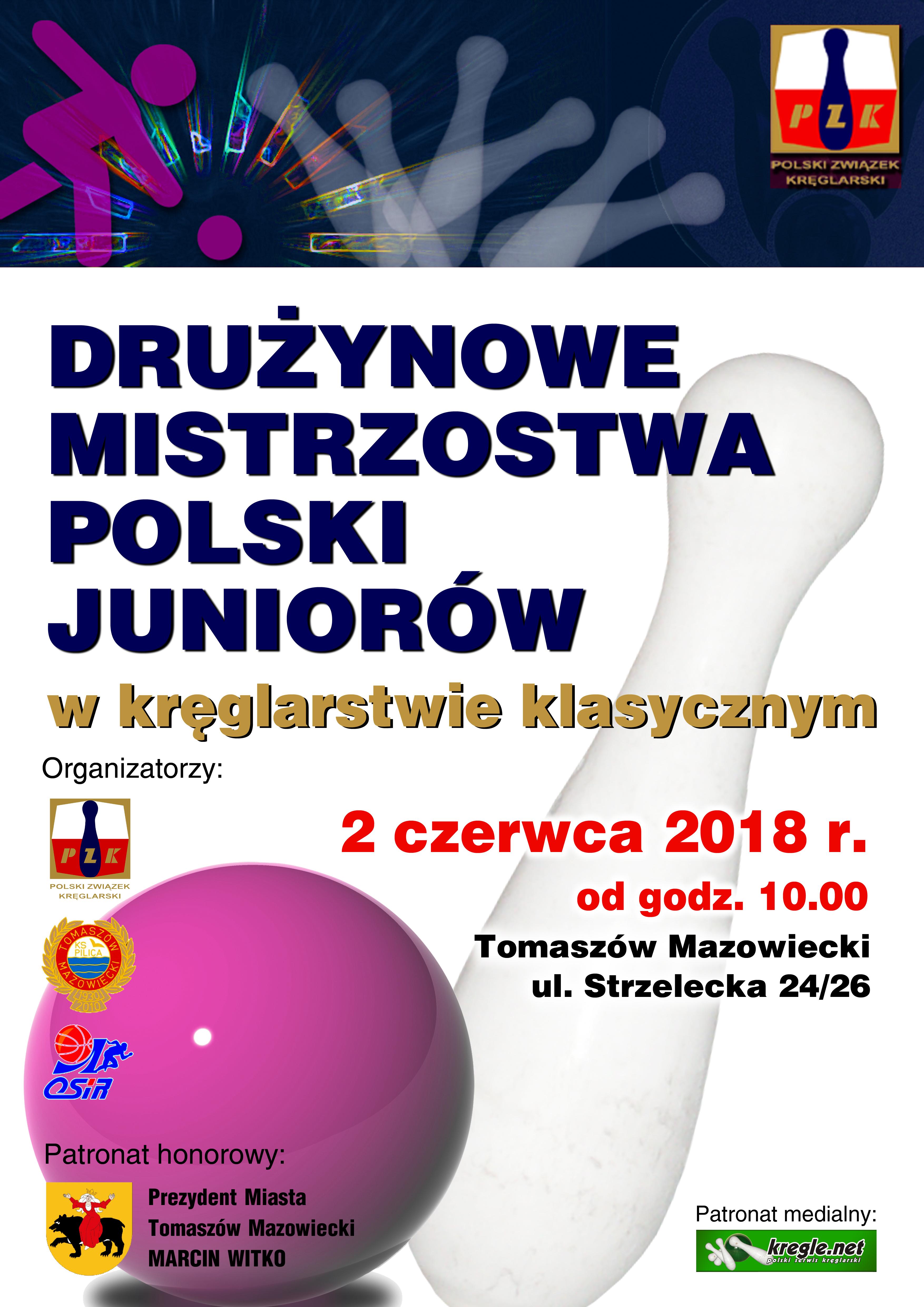 plakat mistrzostw w kręglarstwie klasycznym czerwiec 2018