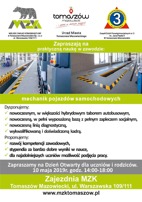 Ulotka o nowym kierunku kształcenia - mzk1