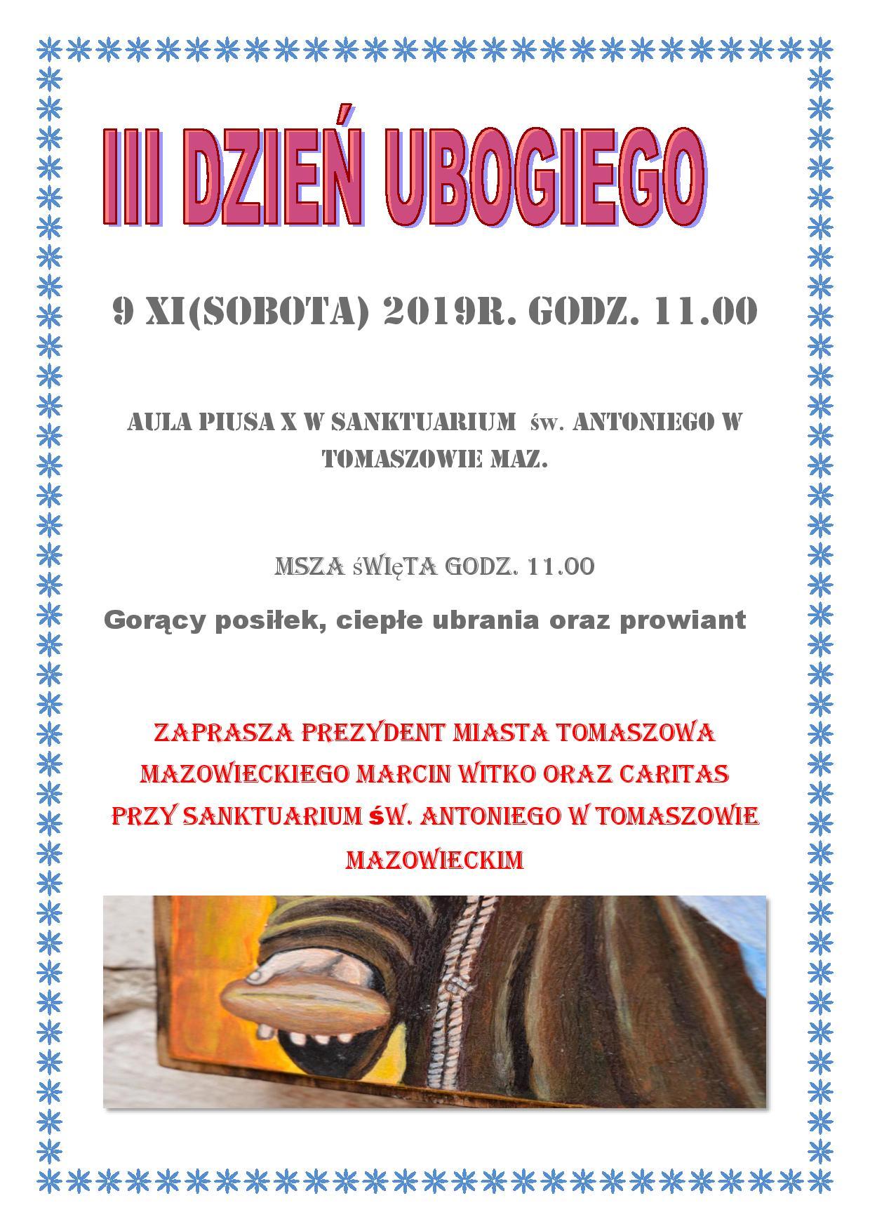 dzień ubogiego plakat