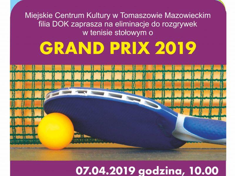 GRAND PRIX w tenisie stołowym