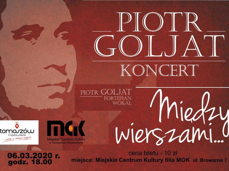 Między wierszami - koncert Piotra Goljata zapowiedź