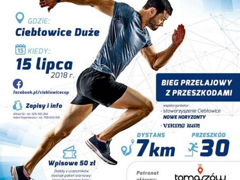 plakat promujący wydarzenie Ciebłowice Cup