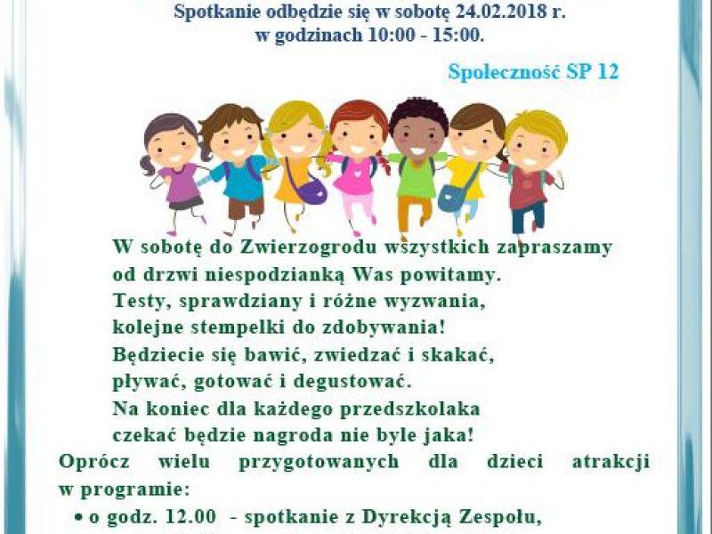 Dzień Otwarty w Szkole Podstawowej nr 12