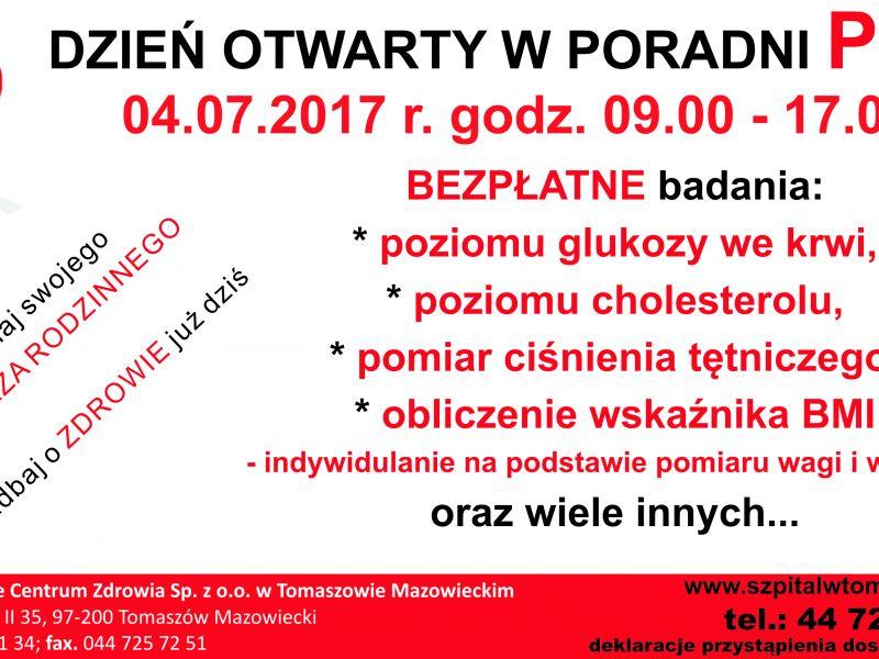 Dzień Otwarty w Poradni POZ Tomaszowskiego Centrum Zdrowia