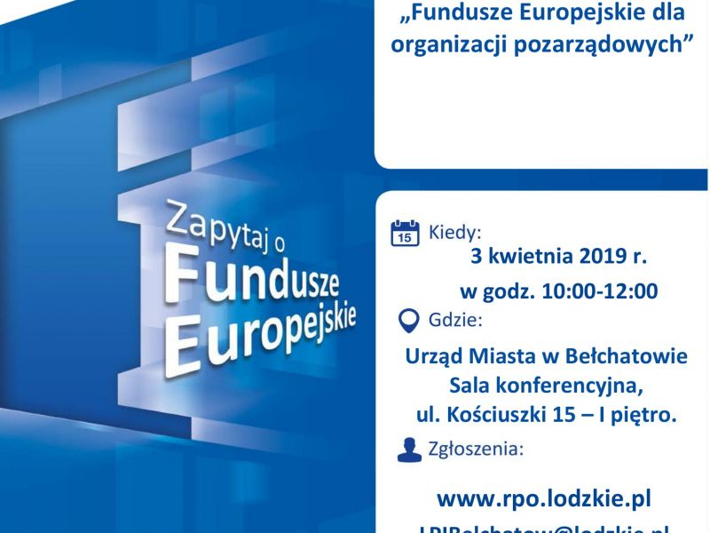 Fundusze Europejskie- spotkanie informacyjne
