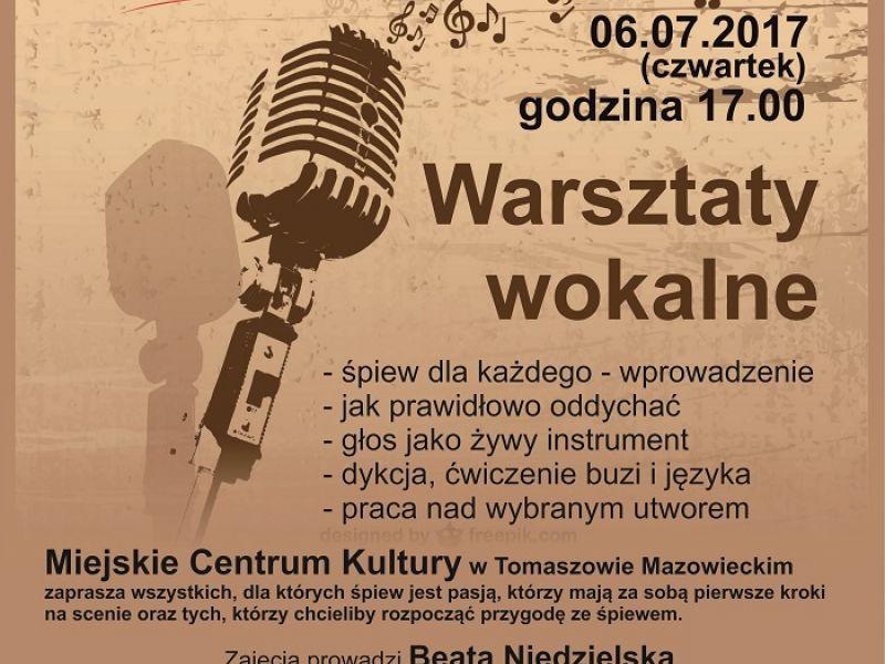 """Warsztaty wokalne w filii """"Tkacz"""""""