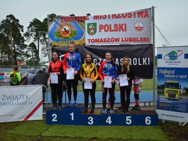 Torowe Mistrzostwa Polski w jeździe szybkiej na wrotkach. Sukcesy tomaszowian