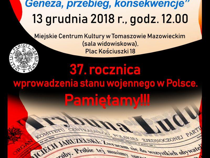 Leszek Próchniak o stanie wojennym w Polsce. Zapraszamy na wykład w MCK