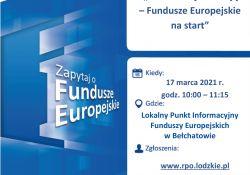 """Webinarium """"Załóż firmę z dotacją – Fundusze Europejskie na start"""""""