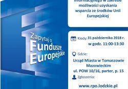 Mobilny Punkt Informacyjny Funduszy Europejskich w Tomaszowie