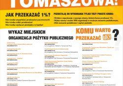 """IX edycja kampanii społecznej """"A gdy nadchodzi pora PIT-owa, wpisz 1% dla Tomaszowa"""""""
